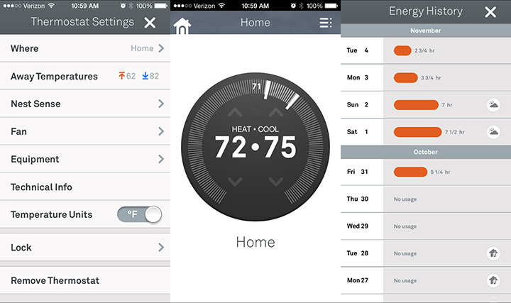 The Nest iPhone App