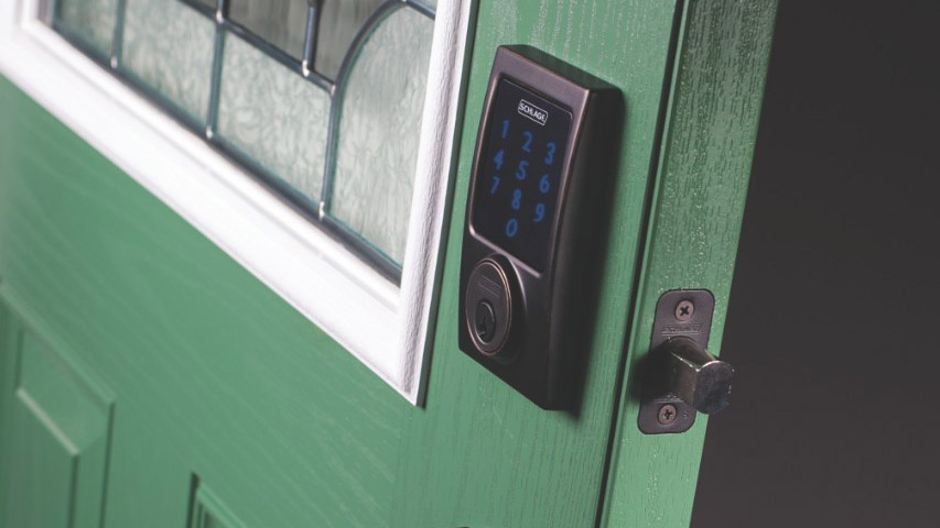 Review Schlage Connect Smart Deadbolt At Home In The Future