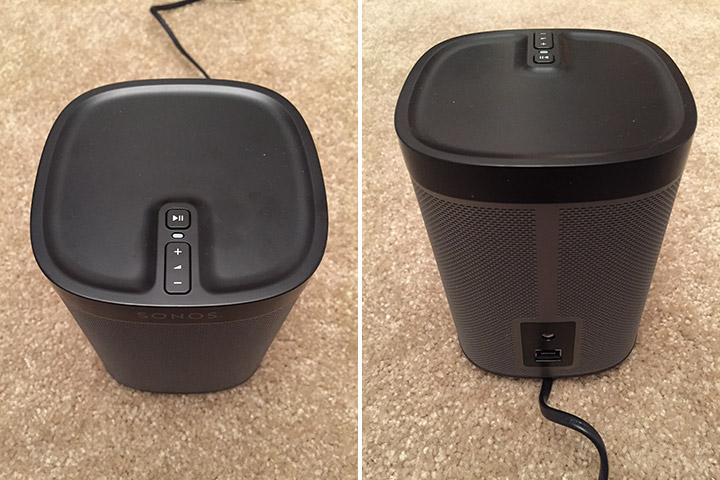 The top and back of the Sonos PLAY:1