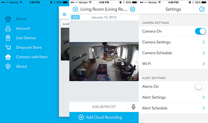 The Dropcam App