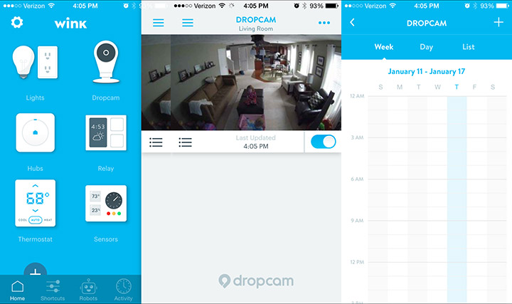 Dropcam Pro and Wink