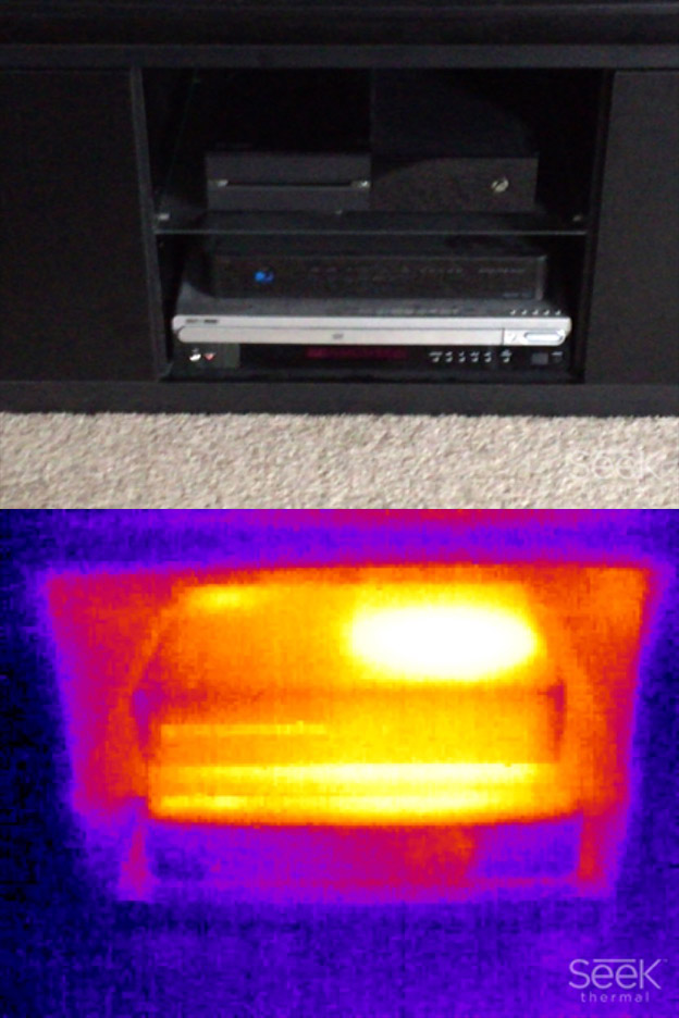Heat from an Xbox One