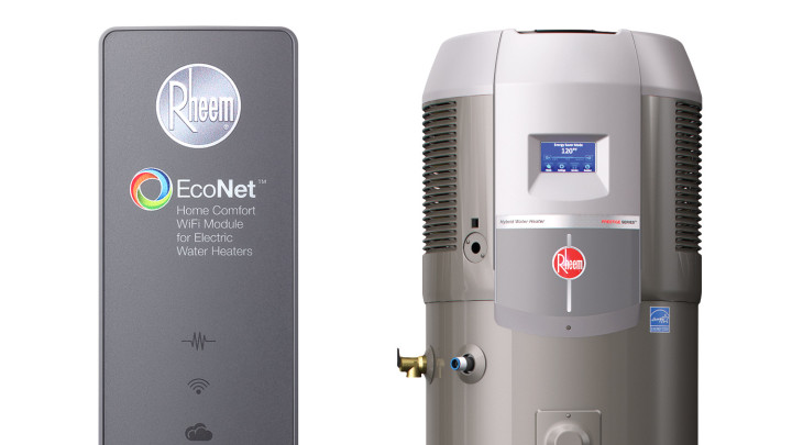 rheem water heater electric. first look: rheem hybrid heat pump water heater with econet electric c