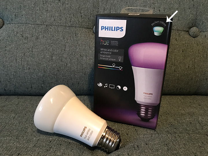 New Hue bulb packaging