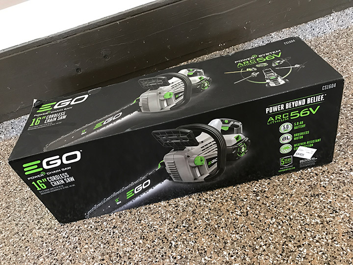 EGO chainsaw box