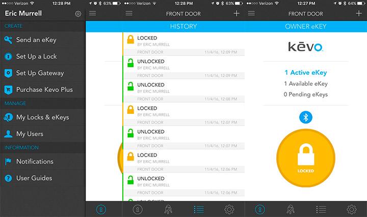 Using the Kevo app