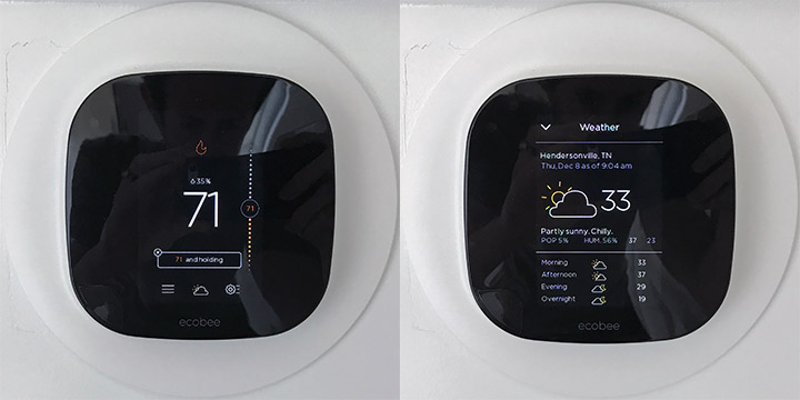 ecobee3 on the wall